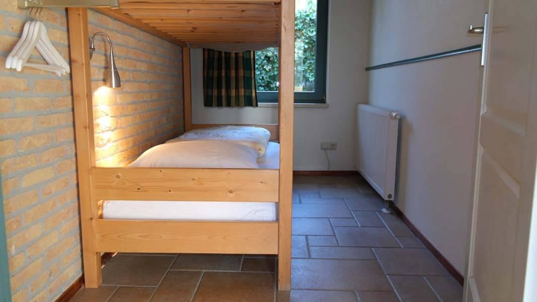 De Leeuwerik | lodge voor 6 personen, slaapkamer stapelbed | Veluwe Lodges Otterlo