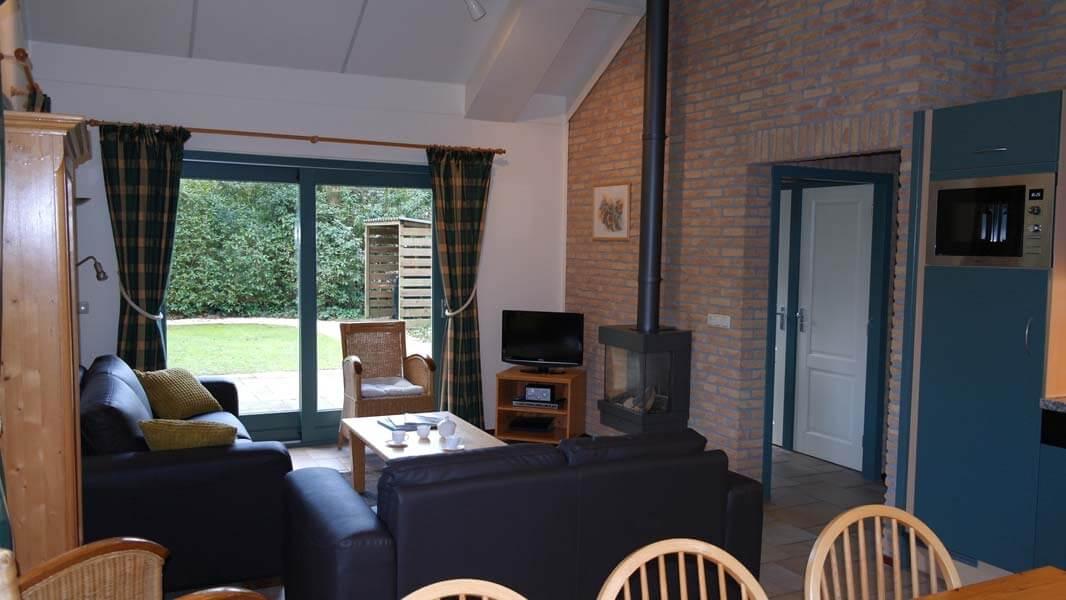 De Leeuwerik | lodge voor 6 personen, woonkamer | Veluwe Lodges Otterlo
