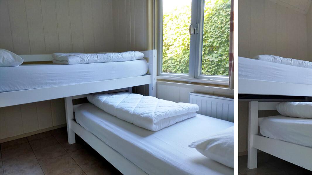 Het Roodborstje - slaapkamer 2 | Romantische lodge voor 4 personen | Veluwe Lodges Otterlo